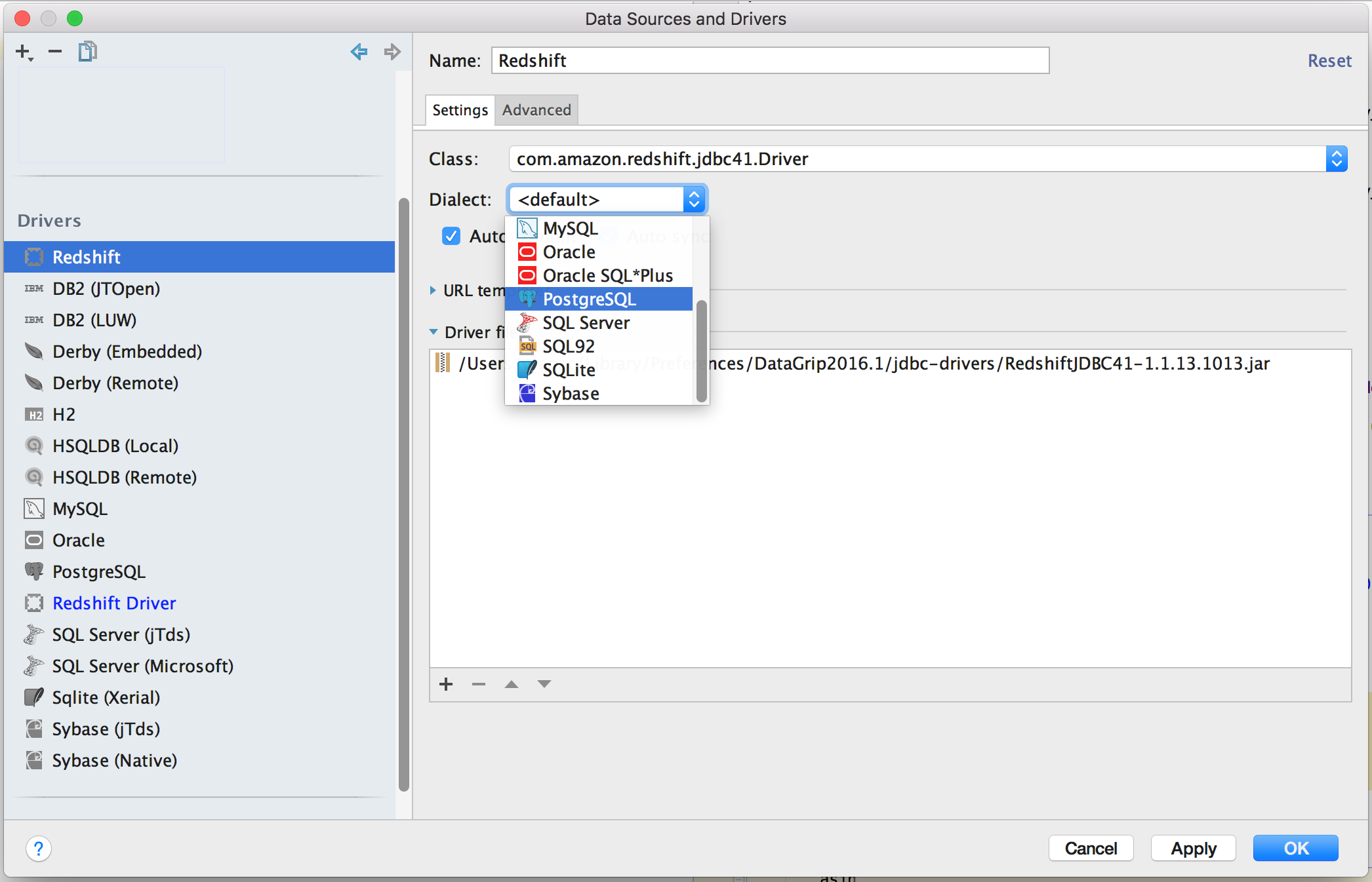 Connecting JetBrains DataGrip to Redshift